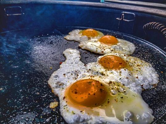 Ei auf der Gussplancha